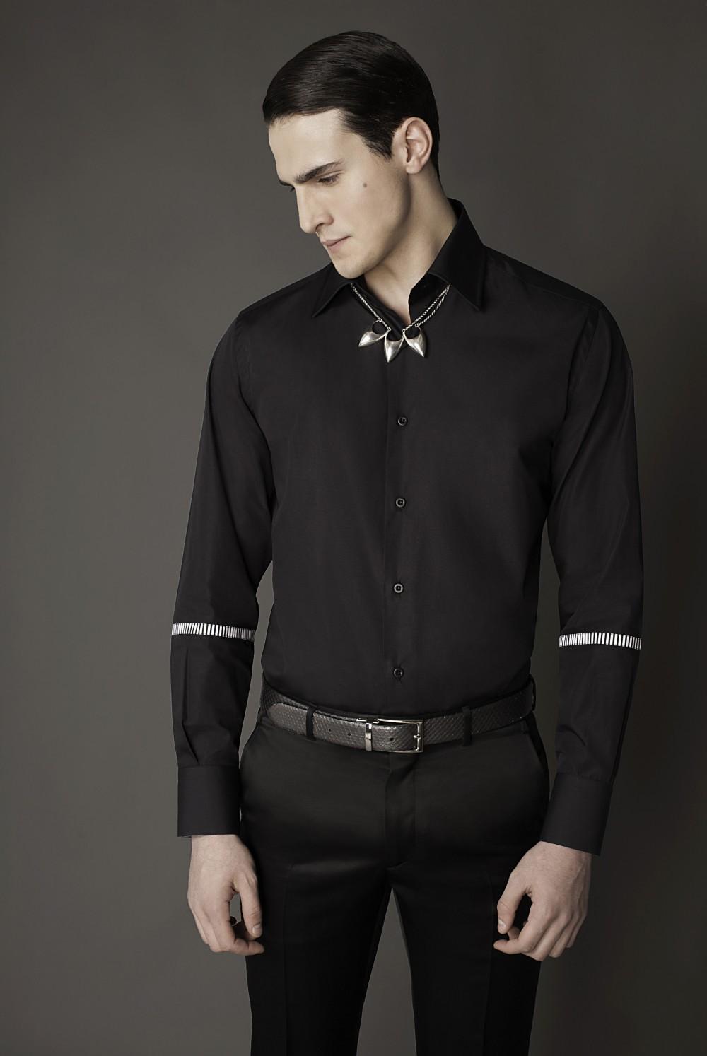 Colour: Black - B/w  Fabric: Cotton - Striped cotton