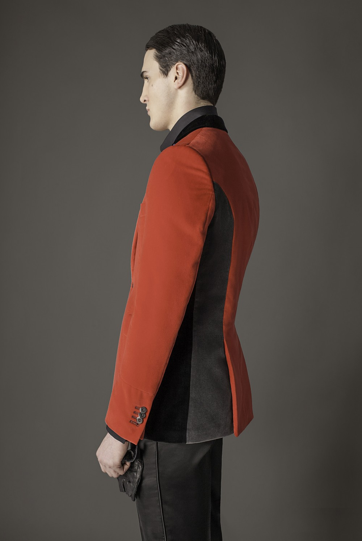 Colour: Red - Black - Grey Fabric: Cotton velvet Lining: Viscose
