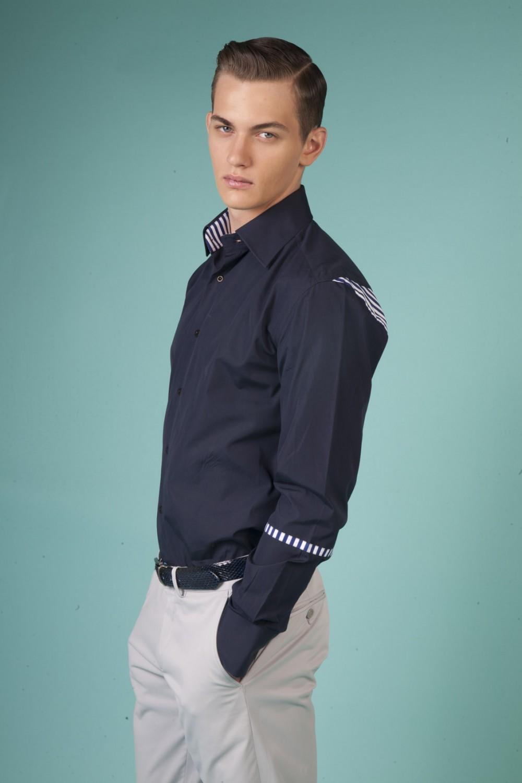 Colour: Navy - Navy/white stripes Fabric: Cotton