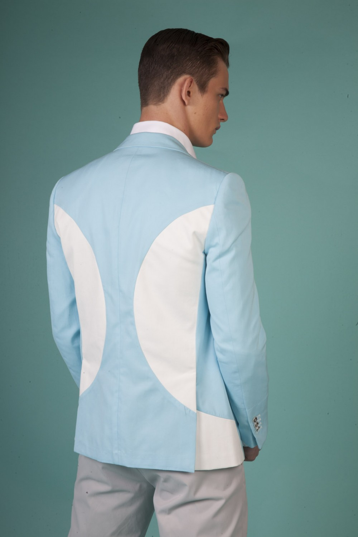 Colour: Aqua - White Fabric: Stretch cotton - Cotton Lining: Viscose