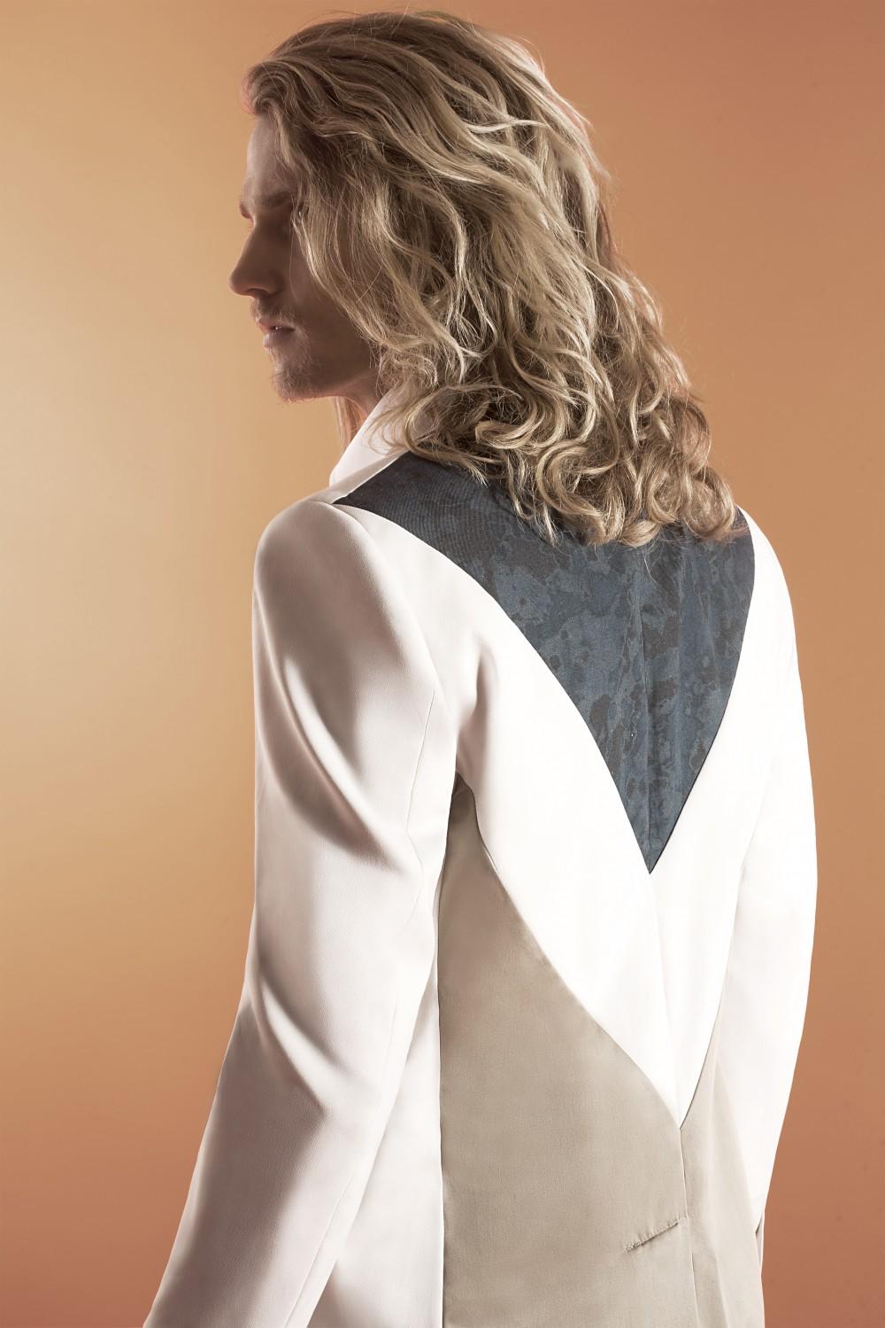 Khaki - Chalk - Blue camouflage Stretch cotton - Waxed cotton Half lining : Viscose