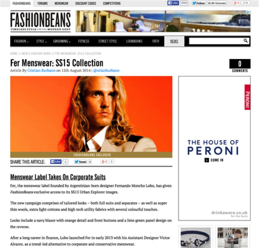 Press: Fashion Beans August 2014