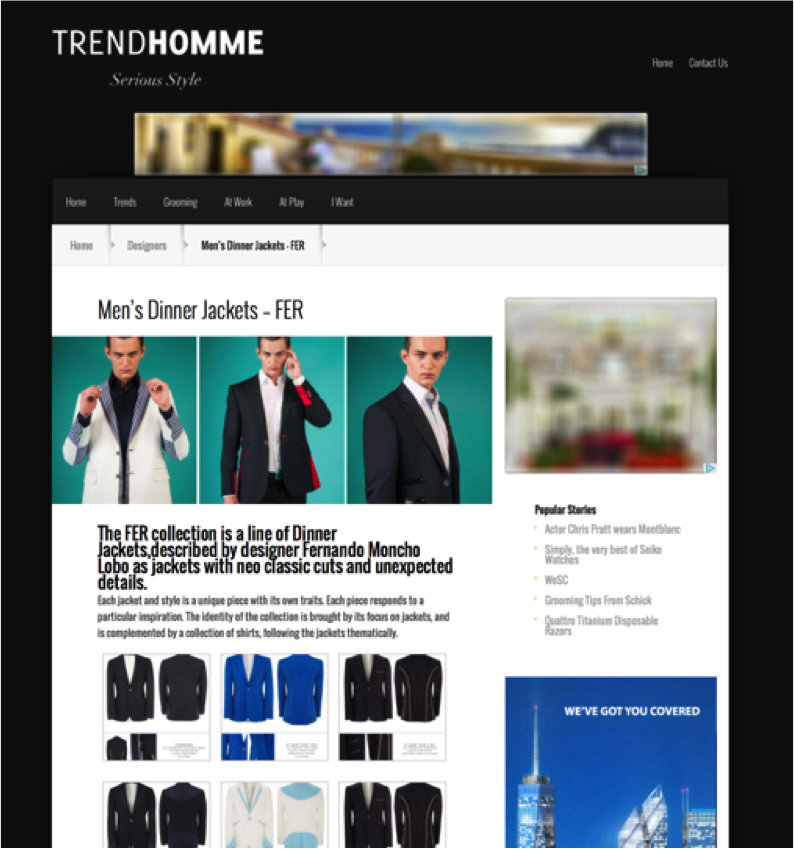 Press: Trend Homme February 2015
